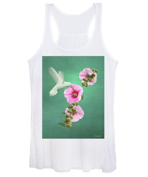 Hummingbird And Malva Wildflower Women's Tank Top