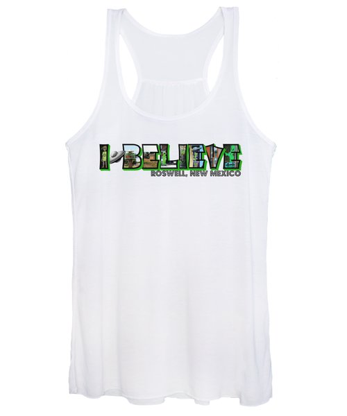 I Believe Roswell New Mexico Big Letter Women's Tank Top