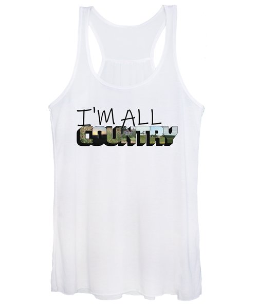 I'm All Country Big Letter Women's Tank Top