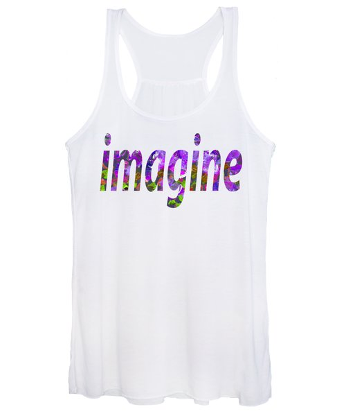 Women's Tank Top featuring the painting Imagine 1005 by Corinne Carroll