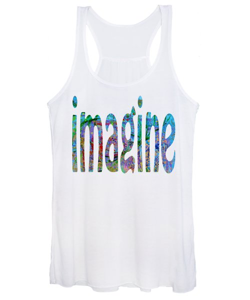 Women's Tank Top featuring the painting Imagine 1006 by Corinne Carroll