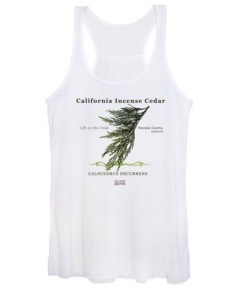 Incense Cedar - Brpwn Text Women's Tank Top