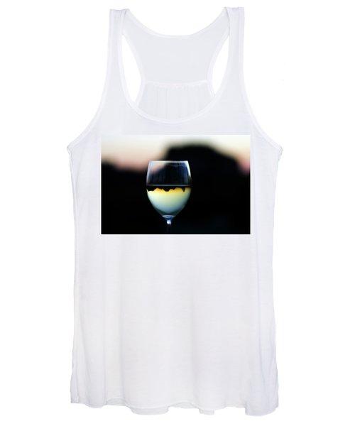 Inverted Landscape In Wine Glass Women's Tank Top