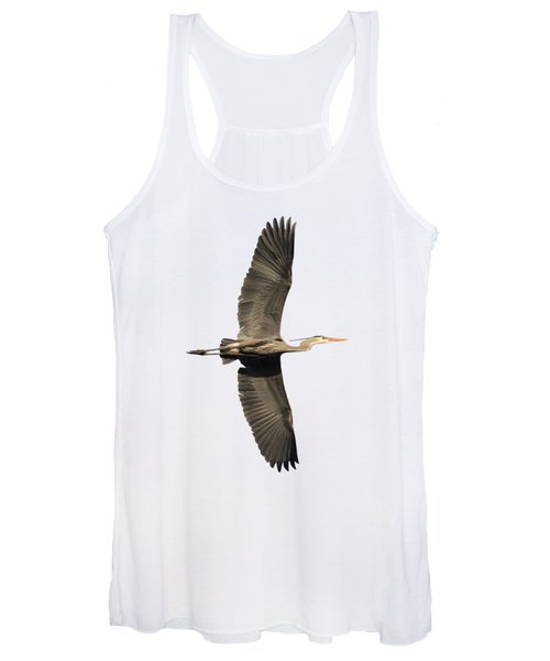 Isolated Great Blue Heron 2018-1 Women's Tank Top