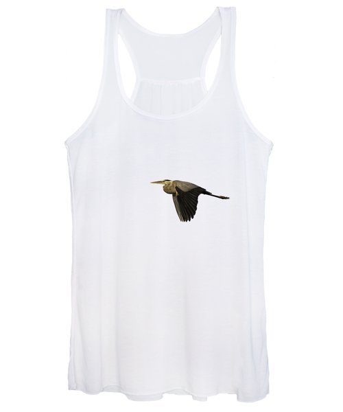 Isolated Great Blue Heron 2019-2 Women's Tank Top