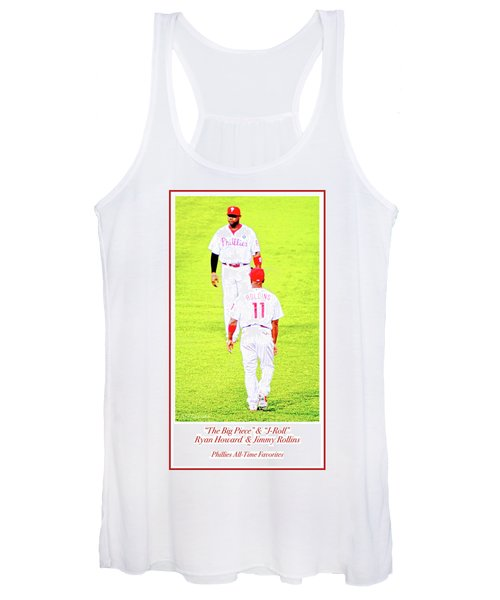 J Roll And The Big Piece, Ryan And Rollins, Phillies Greats Women's Tank Top