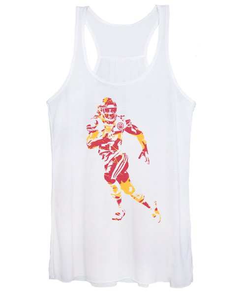 Kareem Hunt Kansas City Chiefs Apparel T Shirt Pixel Art 1 Women's Tank Top