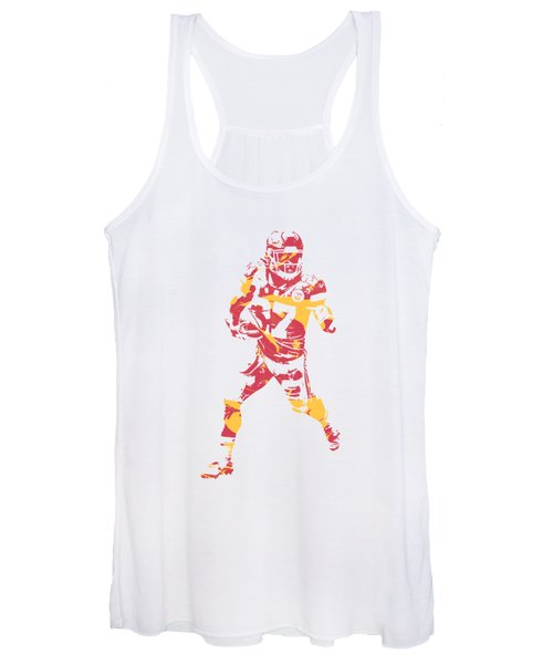 Kareem Hunt Kansas City Chiefs Apparel T Shirt Pixel Art 3 Women's Tank Top
