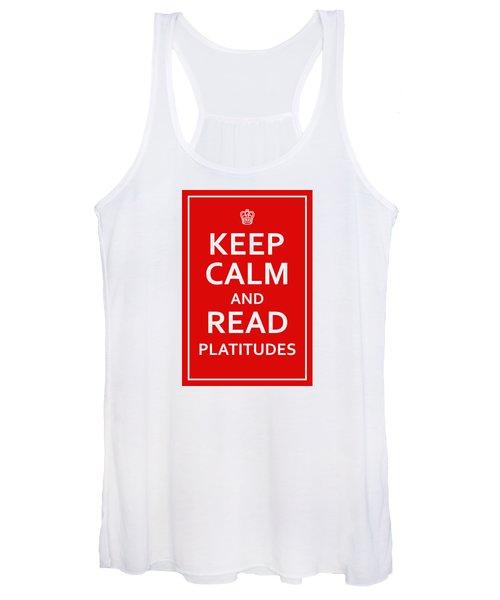 Keep Calm - Read Platitudes Women's Tank Top