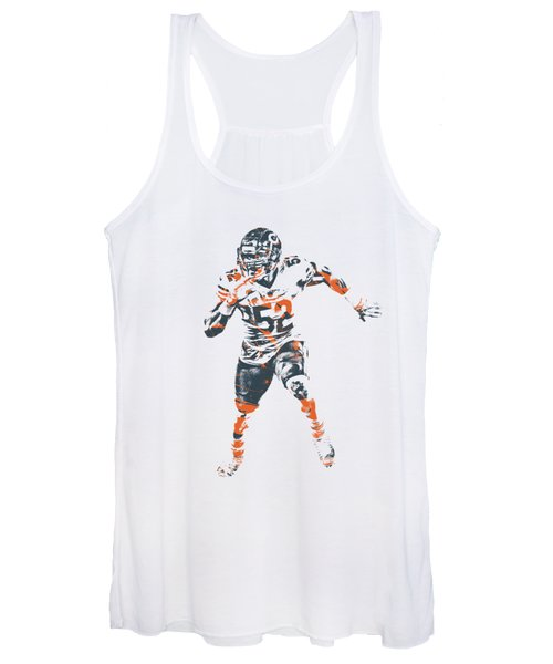 Khalil Mack Chicago Bears Apparel T Shirt Pixel Art 1 Women's Tank Top