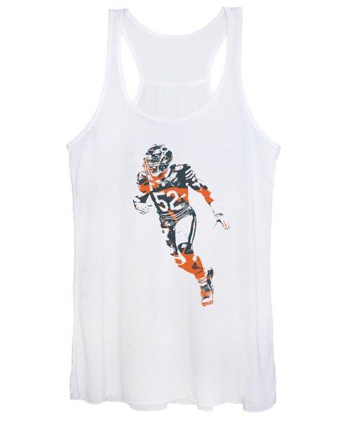 Khalil Mack Chicago Bears Apparel T Shirt Pixel Art 2 Women's Tank Top