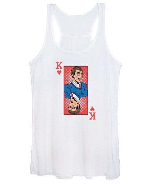 King Pop Art Playing Card Women's Tank Top