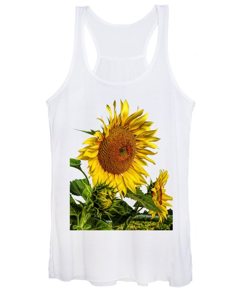 Large Sunflower T-shirt Women's Tank Top