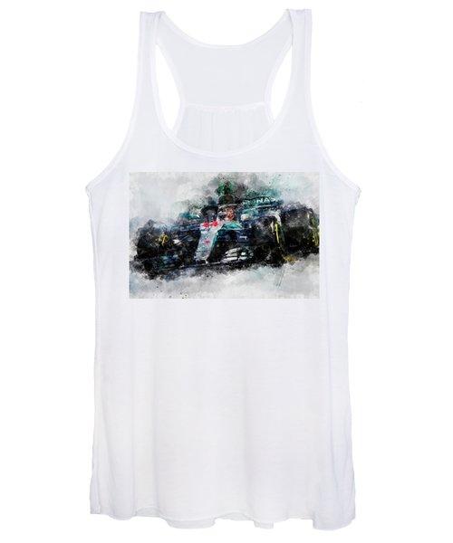 Lewis Hamilton, Mercedes Amg F1 W09 - 10 Women's Tank Top