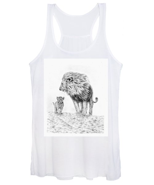 Lion And Cub Women's Tank Top