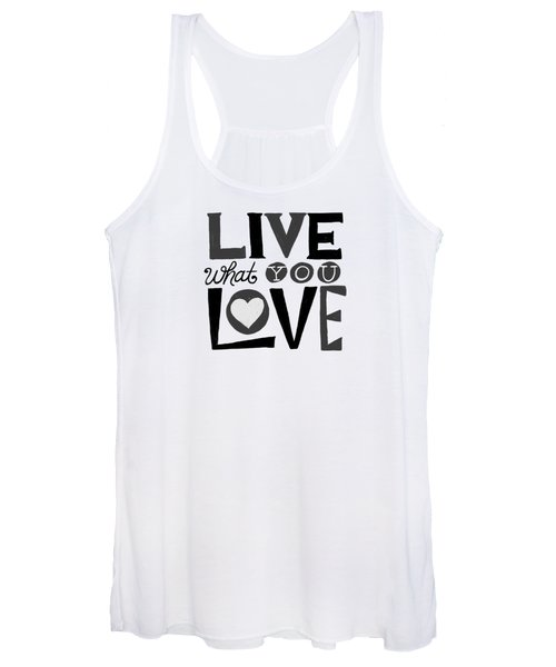 Live What You Love In Black Women's Tank Top