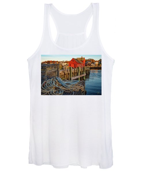 Lobster Traps And Line At Motif #1 Women's Tank Top