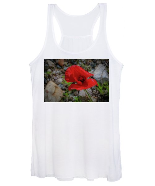 Lone Red Flower Women's Tank Top
