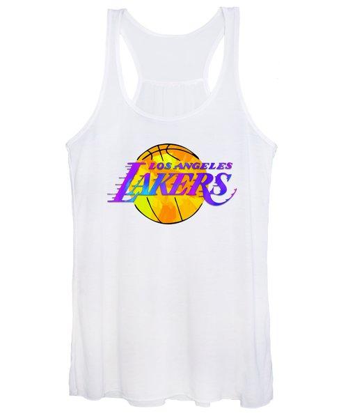 Los Angeles Lakers Paint Design Women's Tank Top