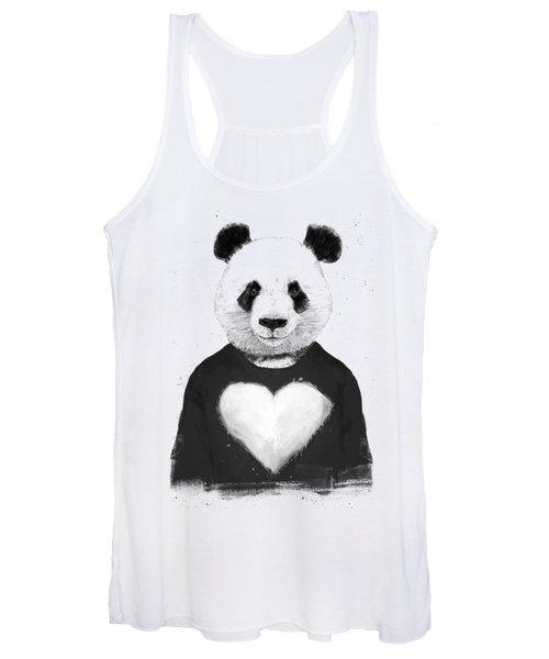 Lovely Panda  Women's Tank Top