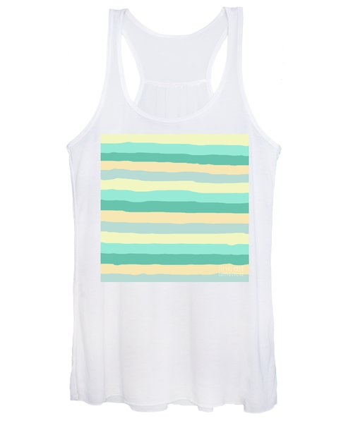 lumpy or bumpy lines abstract and summer colorful - QAB271 Women's Tank Top