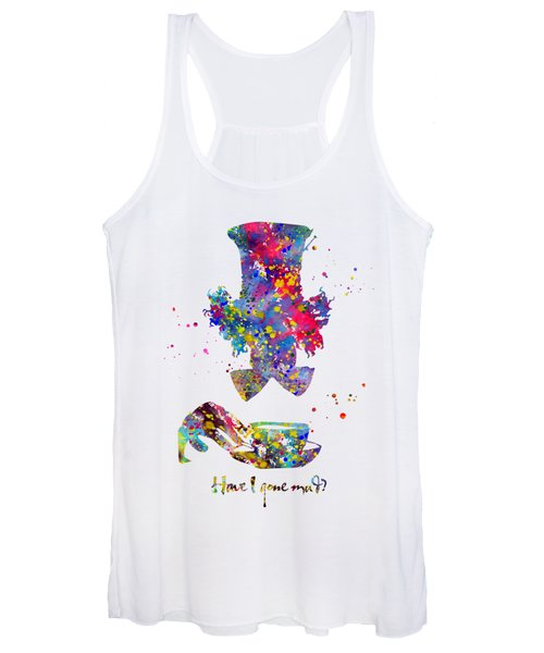 Mad Hatter With Quote Women's Tank Top