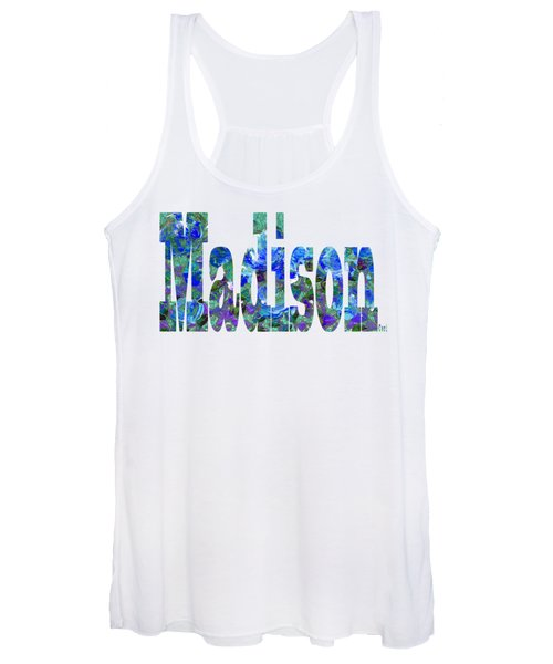 Women's Tank Top featuring the digital art Madison by Corinne Carroll