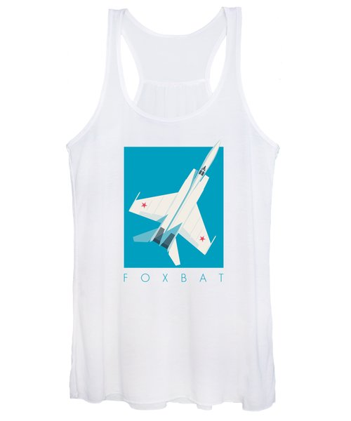 Mig-25 Foxbat Interceptor Jet Aircraft - Cyan Women's Tank Top