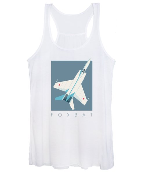 Mig-25 Foxbat Interceptor Jet Aircraft - Slate Women's Tank Top