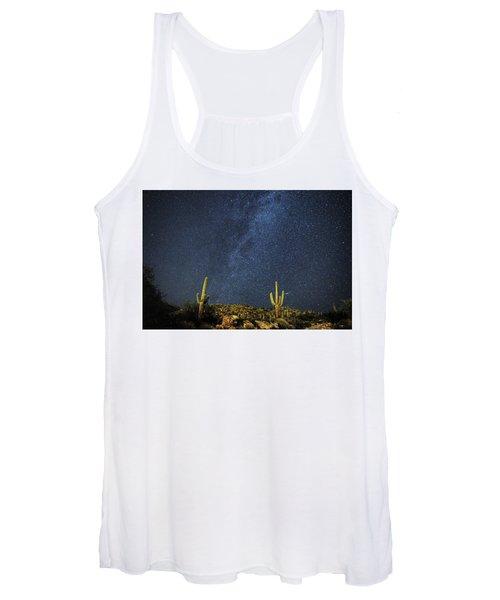 Milky Way And Cactus Women's Tank Top