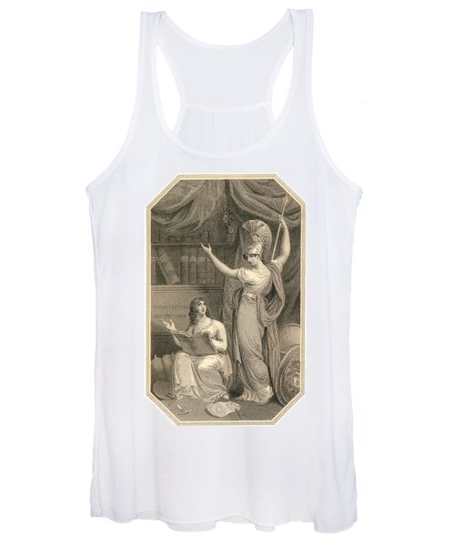 Minerva Directing Study To The  Attainment Of Universal Knowledge Women's Tank Top