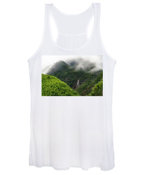 Misty Mountain Waterfall Women's Tank Top