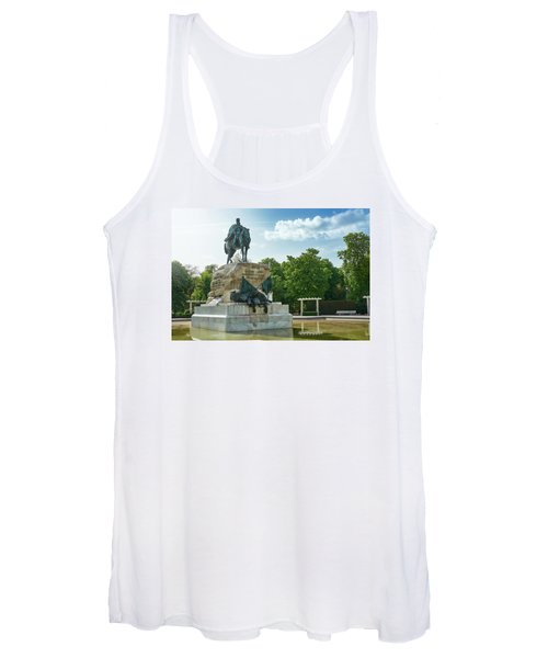 Monument To General Arsenio Martinez Campos In Madrid, Spain Women's Tank Top