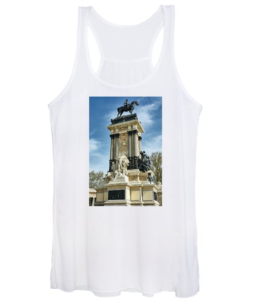 Monument To King Alfonso Xii At Retiro Park In Madrid, Spain Women's Tank Top
