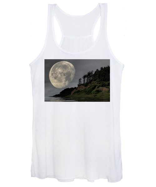 Moon And Beach Women's Tank Top