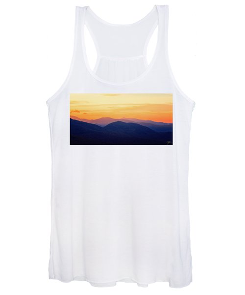 Mountain Light And Silhouette  Women's Tank Top