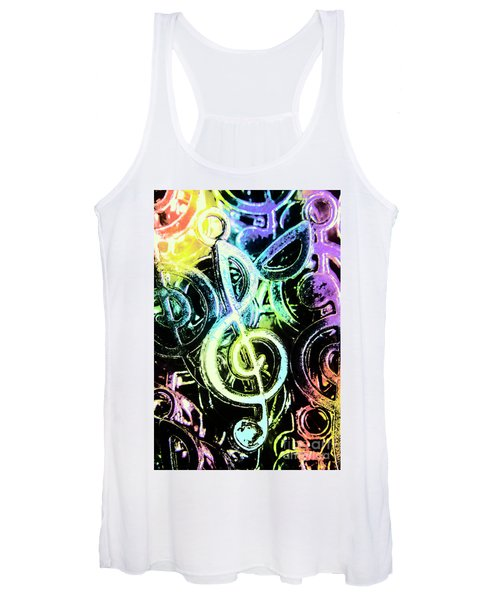 Neon Notes Women's Tank Top