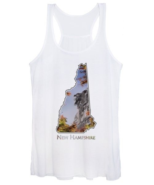 New Hampshire Old Man Logo Transparency Women's Tank Top