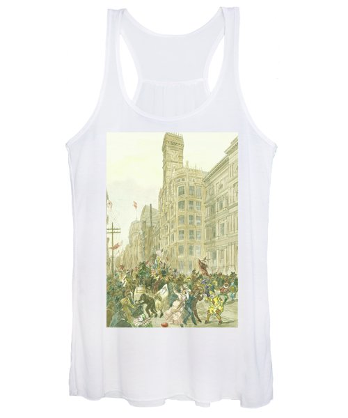 New Years Mummers On Chestnut Street Women's Tank Top