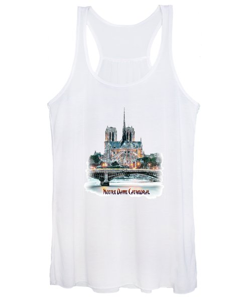 Notre Dame Cathedral In Paris. Women's Tank Top
