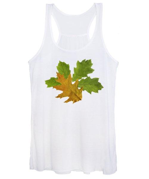 Oak Leaves Pattern Women's Tank Top
