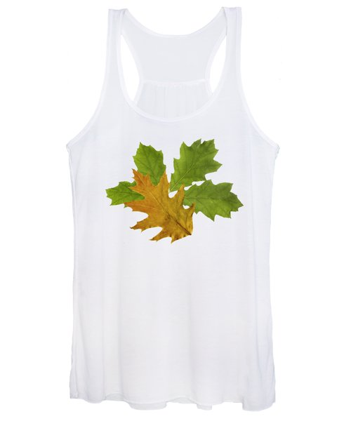 Oak Leaves Pattern Women's Tank Top