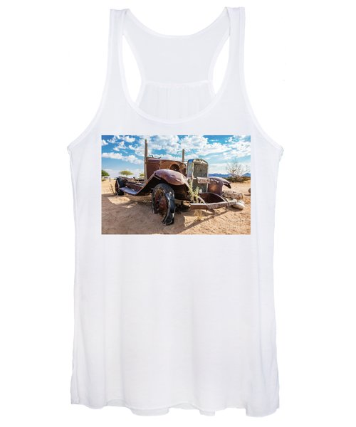 Old And Abandoned Car 3 In Solitaire, Namibia Women's Tank Top