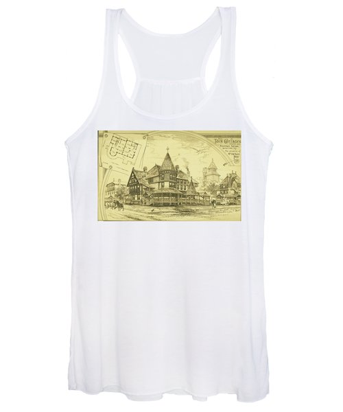 Pair Of Twin Cottages, Hastings Square, Spring Lake, Nj Women's Tank Top