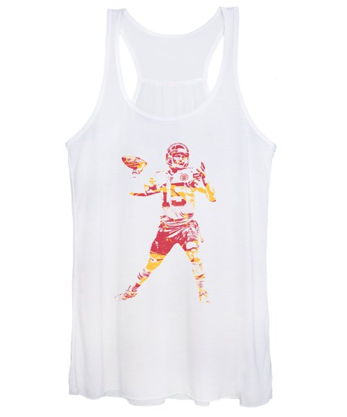 Patrick Mahomes Kansas City Chiefs Apparel T Shirt Pixel Art 1 Women's Tank Top