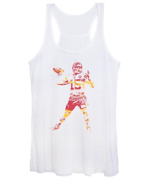 Patrick Mahomes Kansas City Chiefs Apparel T Shirt Pixel Art 1 Women's Tank Top