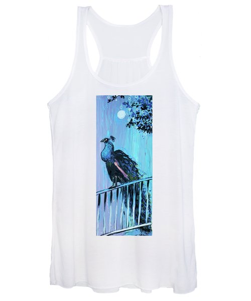 Peacock On A Fence Women's Tank Top