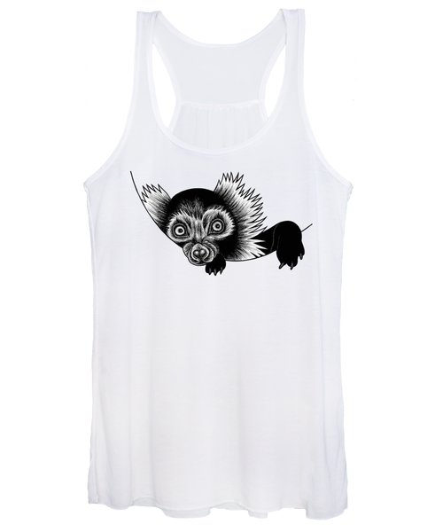 Peeking Lemur - Ink Illustration Women's Tank Top
