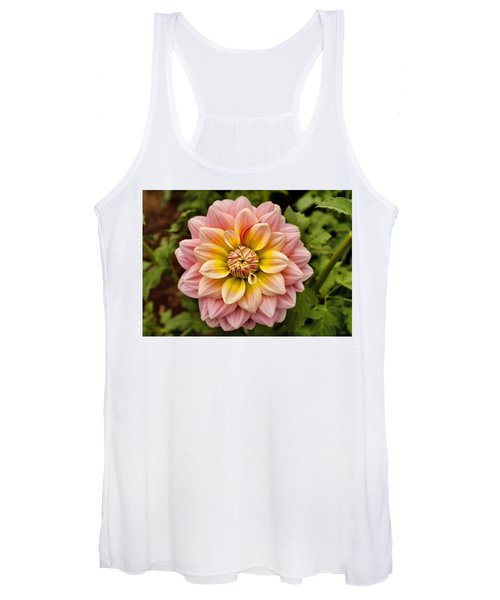 Pink And Yellow Women's Tank Top