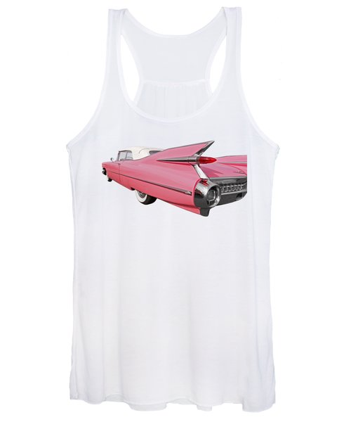 Pink Cadillac Tail Fins At Sunset Women's Tank Top